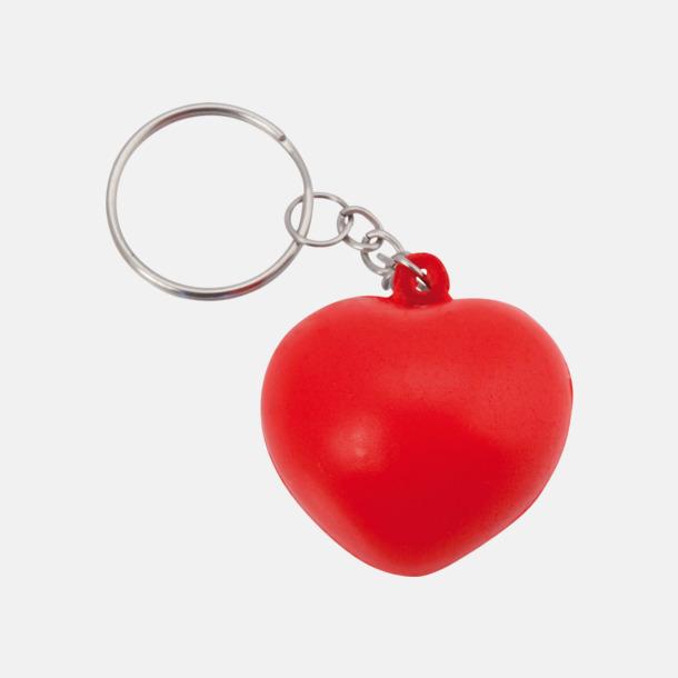 Liten Hjärtformade stressbollar med nyckelring - med reklamtryck