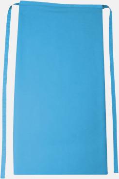 Turkos Långa förkläden i många färger med reklamtryck