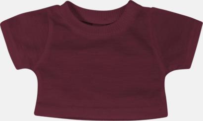 Burgundy (enfärgad) Enfärgade t-shirts eller med färgad kant - med reklamtryck