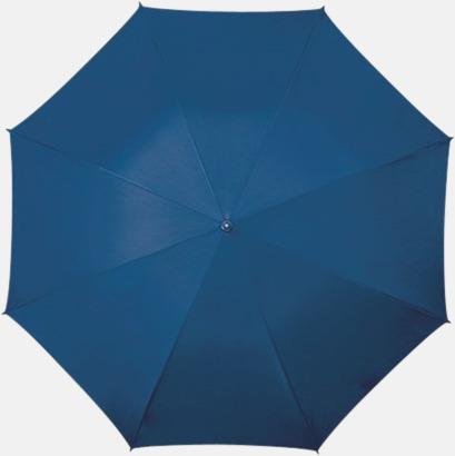 Marinblå Golfparaplyer med aluminium skaft - med reklamtryck