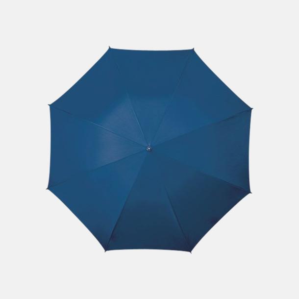 Marinblå (PMS 296C) Golfparaplyer med aluminium skaft - med reklamtryck