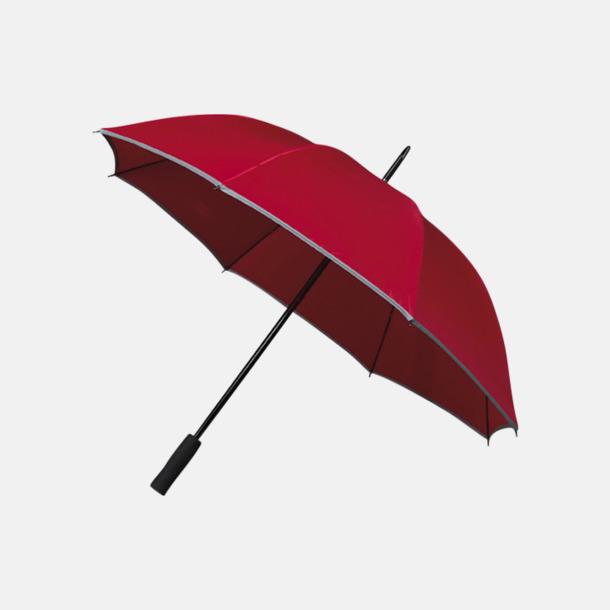 Röd (PMS 1797C)  Paraplyer med reklamtryck
