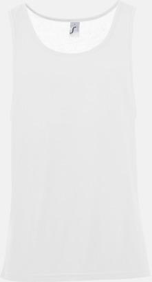 Vit Sublimeringsbara oversize linnen i unisexmodell med reklamtryck