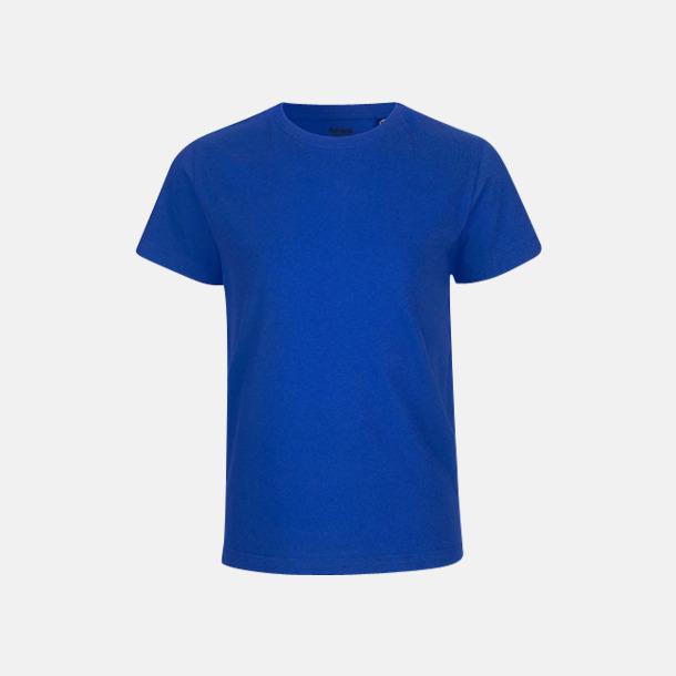 Royal (PMS 293 C) Ekologiska t-shirts för barn av ekologisk bomull - med tryck