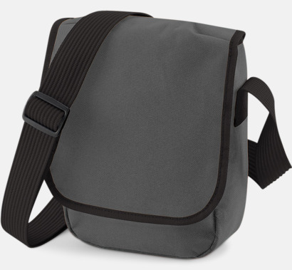 Graphite Grey/Svart Liten väska med eget reklamtryck