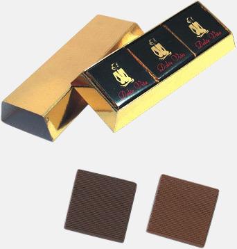 Skinande chokladtackor med eget tryck