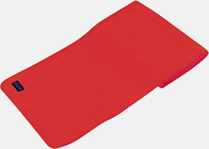 Röd Högkvalitativa fleecehalsdukar med egen brodyr