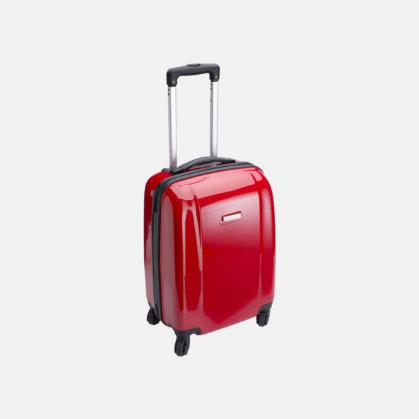Röd 4-hjuls trolley med reklamtryck
