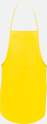 Gul Billiga förkläden i många färger - med reklamtryck