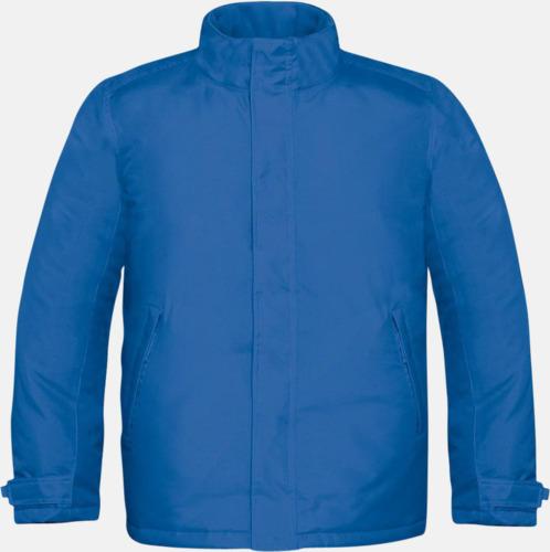 Royal Blue (herr) Vinterparka i herr- och dammodell med reklamtryck