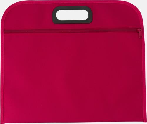 Röd Billiga dokumentfodral i många färger - med reklamtryck