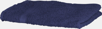 Marinblå Exklusiva handdukar med egen brodyr