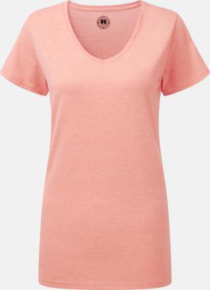 Coral Marl (v-neck dam) Färgstarka t-shirts i herr- och dammodell med reklamtryck