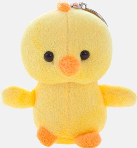Gul / Orange Påskiga kyckling nyckelringar med reklamtryck