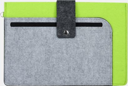 Grå / Limegrön Surfplattefodral med snap fastener med reklamtryck
