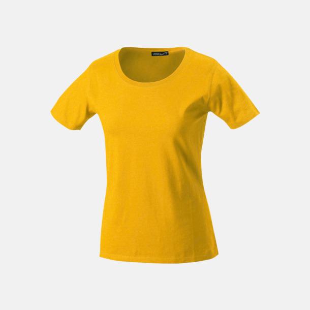 Gold Yellow T-shirtar av kvalitetsbomull med eget tryck