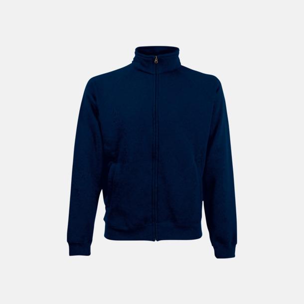 Deep Navy Tjockare tröja med dragkedja. Använd som jacka!