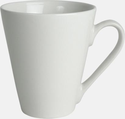 Vit Klassiskt kaffekopp i mångar fina färger