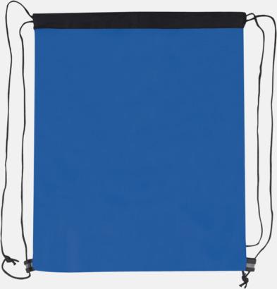 Blå (baksida) Gympapåse med nätficka - med reklamtryck