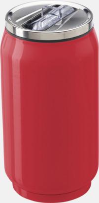 Röd Läskburksformade resemuggar med reklamtryck