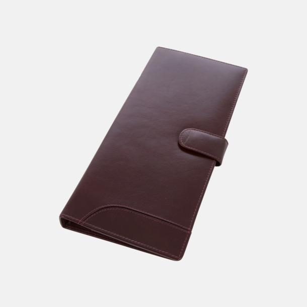 Rödbrun Lädermappar i hög kvalitet - med reklamtryck