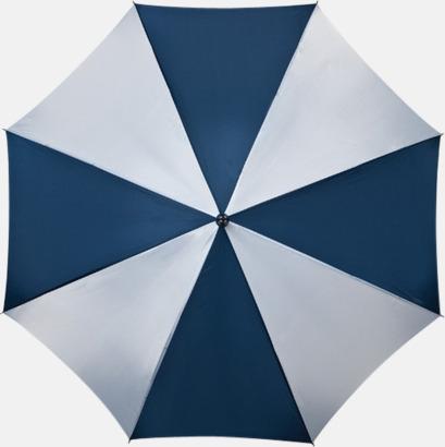 Marinblå / Vit Golfparaplyer med gummerade handtag