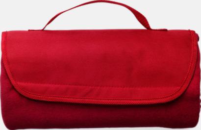 Röd Fleecepläd - Filtar med tryck