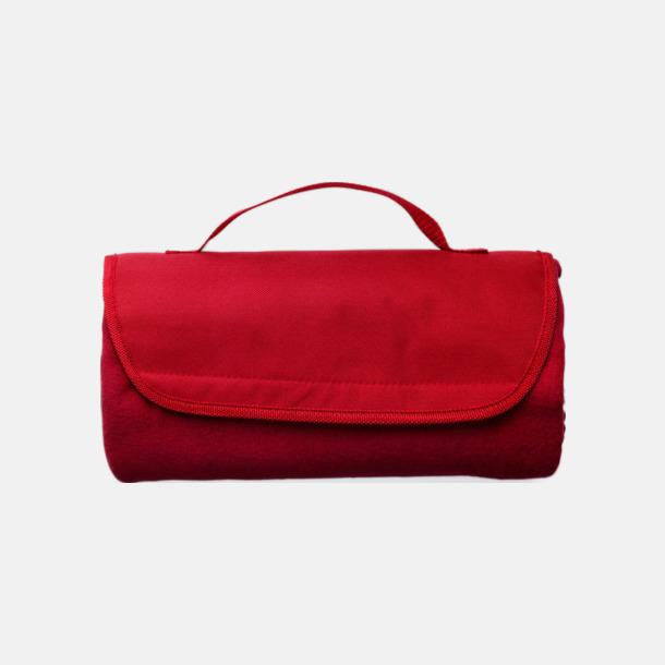 Röd Fleecepläd - filtar med reklamlogo