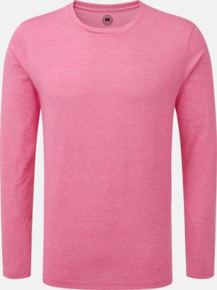 Pink Marl (herr) Färgstarka långärms t-shirts i herr-, dam och barnmodell