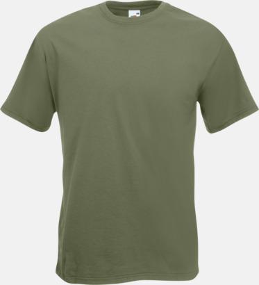 Classic Olive Kraftig t-shirt med reklamtryck