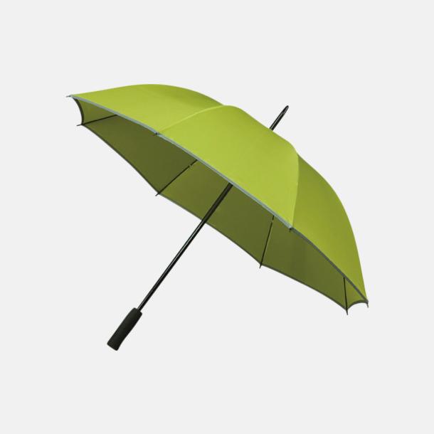 Limegrön (PMS 374C) Paraplyer med reklamtryck