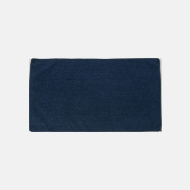 Marinblå (gästhandduk) Microfiber handdukar i 3 storlekar med reklambrodyr