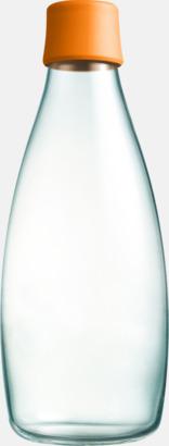 Orange Större glasflaskor med reklamtryck
