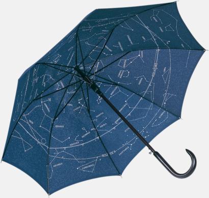 Night Blue Paraplyer med stjärnhimmel - med reklamtryck