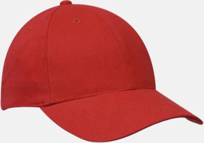Röd klassiska basebollkepsar med reklambrodyr
