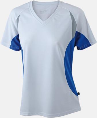 Vit/Royal/Reflex Flerfärgade funktionströjor med eget tryck