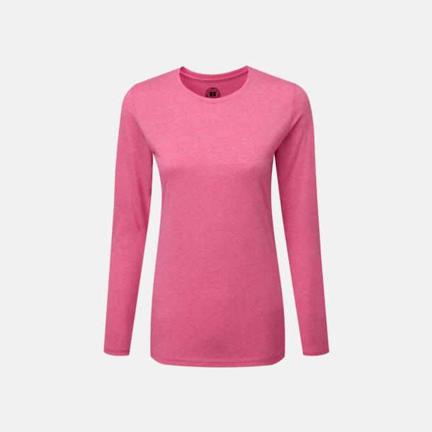 Pink Marl (dam) Färgstarka långärms t-shirts i herr-, dam och barnmodell