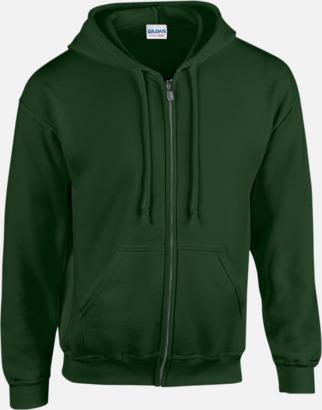 Forest Green Heavy Blend-tröja i herrmodell med reklamtryck