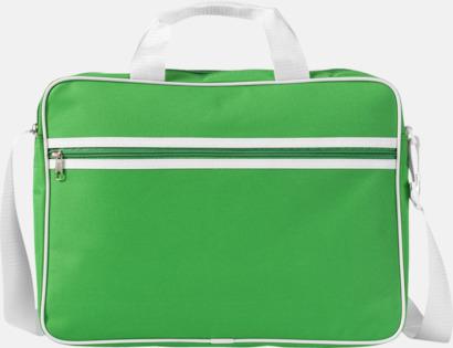 Grön / Vit Vadderade laptopväskor i retrodesign - med tryck