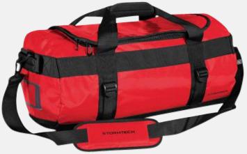Bold Red/Svart 35 liters-väskor med reklamtryck