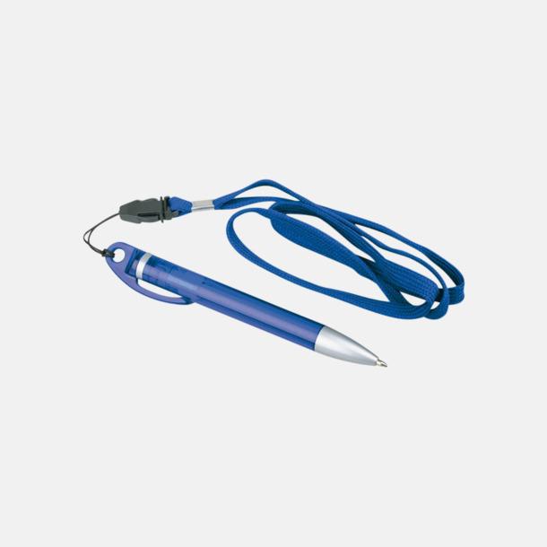 Blå Reklampennor med nyckelband