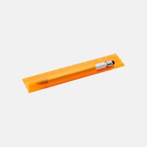 Linjal med styluspenna i hållare - med reklamtryck