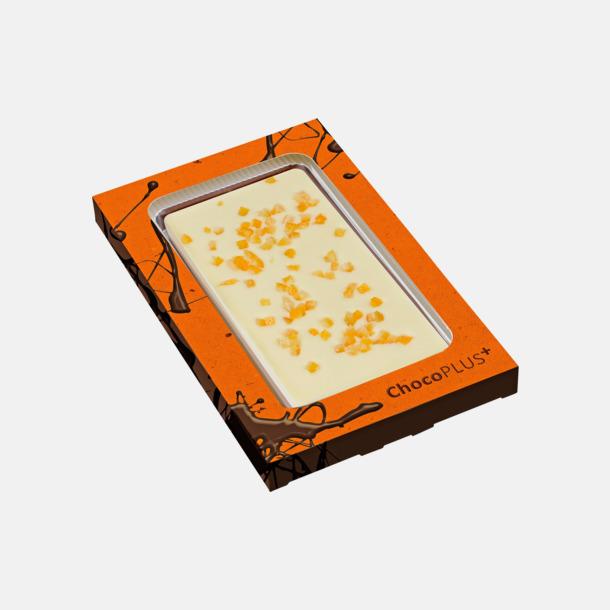 Apelsin (vit choklad) Lyxiga chokladkakor i många smaker med reklamtryck