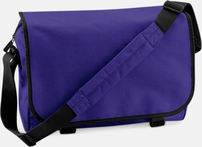 Lila/Svart Billiga väskor med reklamtryck