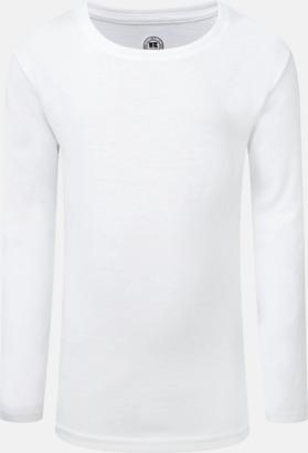 Vit (flicka) Långärms t-shirts i herr-, dam och barnmodell med sublimering