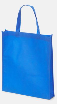 Blå Non wovenkassar med reklamtryck