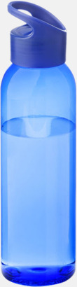 Royal/Transparent blå Bärvänliga vattenflaskor i tritan med reklamtryck