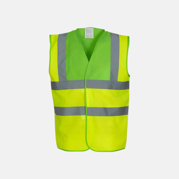 Hi-Vis Yellow/Limegrön Färgglada säkerhetsvästar med reklamtryck