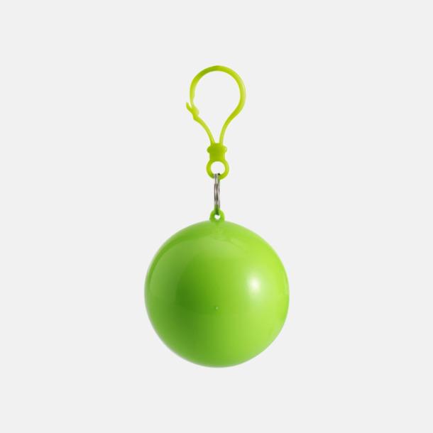Ljusgrön Regnponcho i boll med tryck
