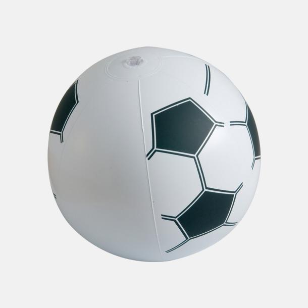 Uppblåsbara badbollar med fotbollsmönster - med reklamtryck